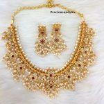 Pure Silver Guttapusalu Necklace Set