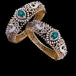 Pure Silver Stone Studded Bangles