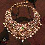 Ruby Diamond Pearl Choker Necklace
