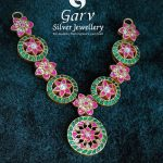 Silver Gold Plated Kundan Necklace