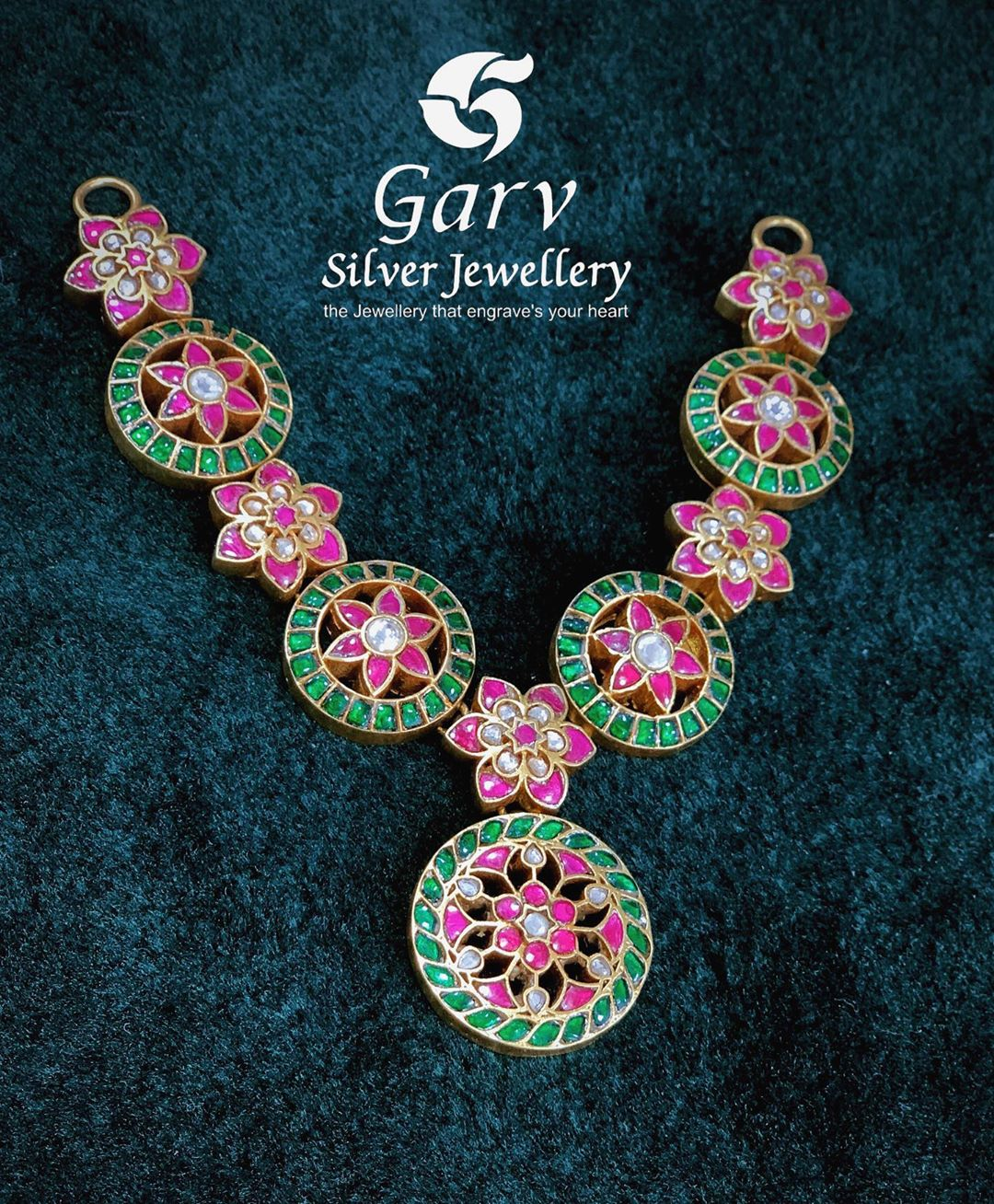 silver-gold-plated-kundan-necklace