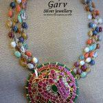 Stylish Silver Kundan Necklace
