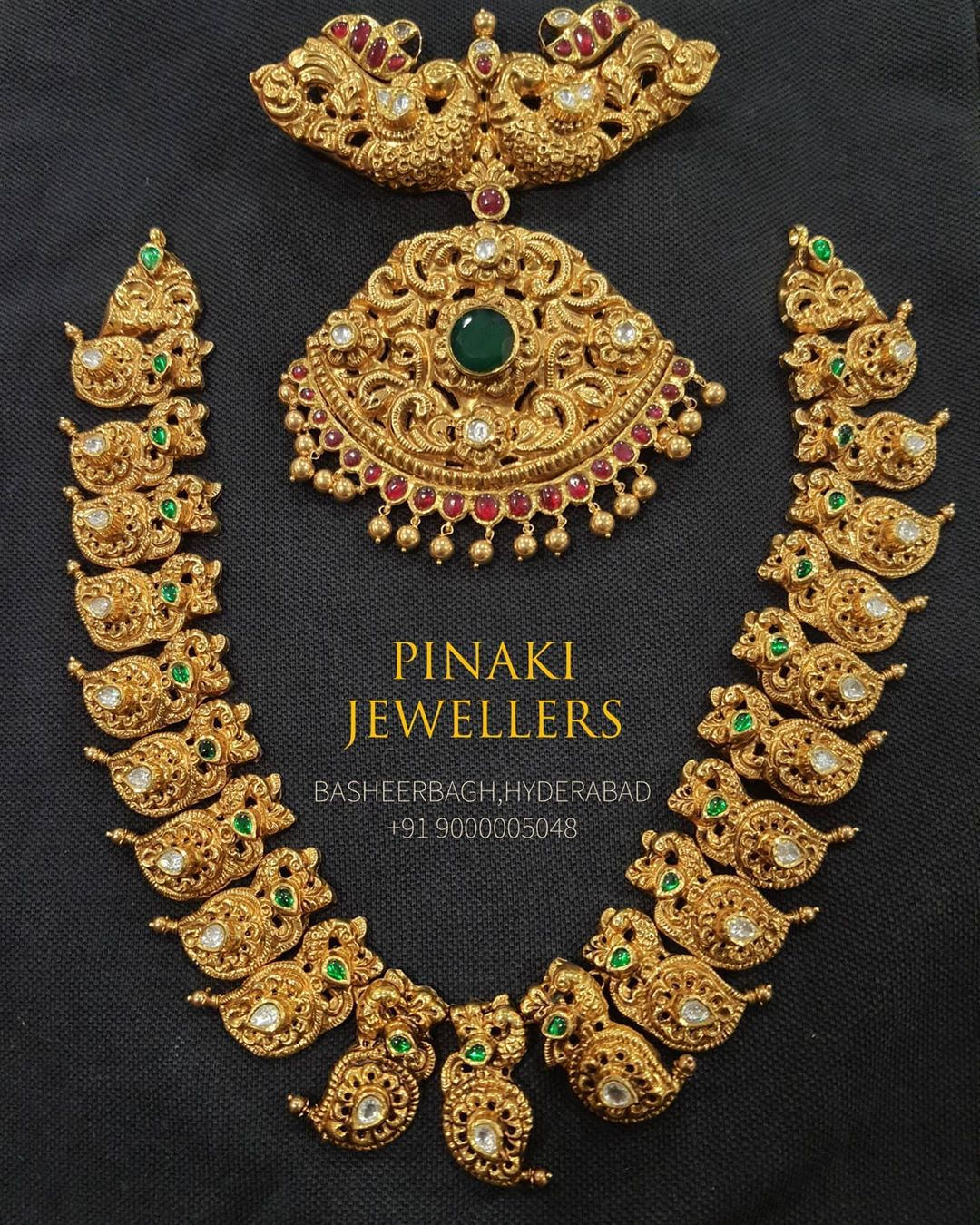 traditional-gold-mango-necklace