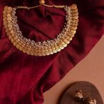 Triple Coin Layered Cluster Pearl Necklace