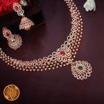 White Stone Necklace Set