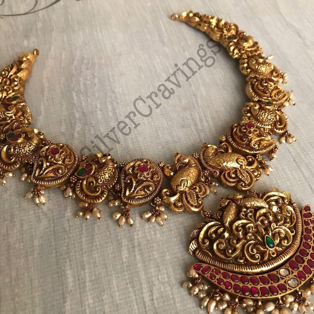 22ct-gold-polished-silver-nakashi-necklace