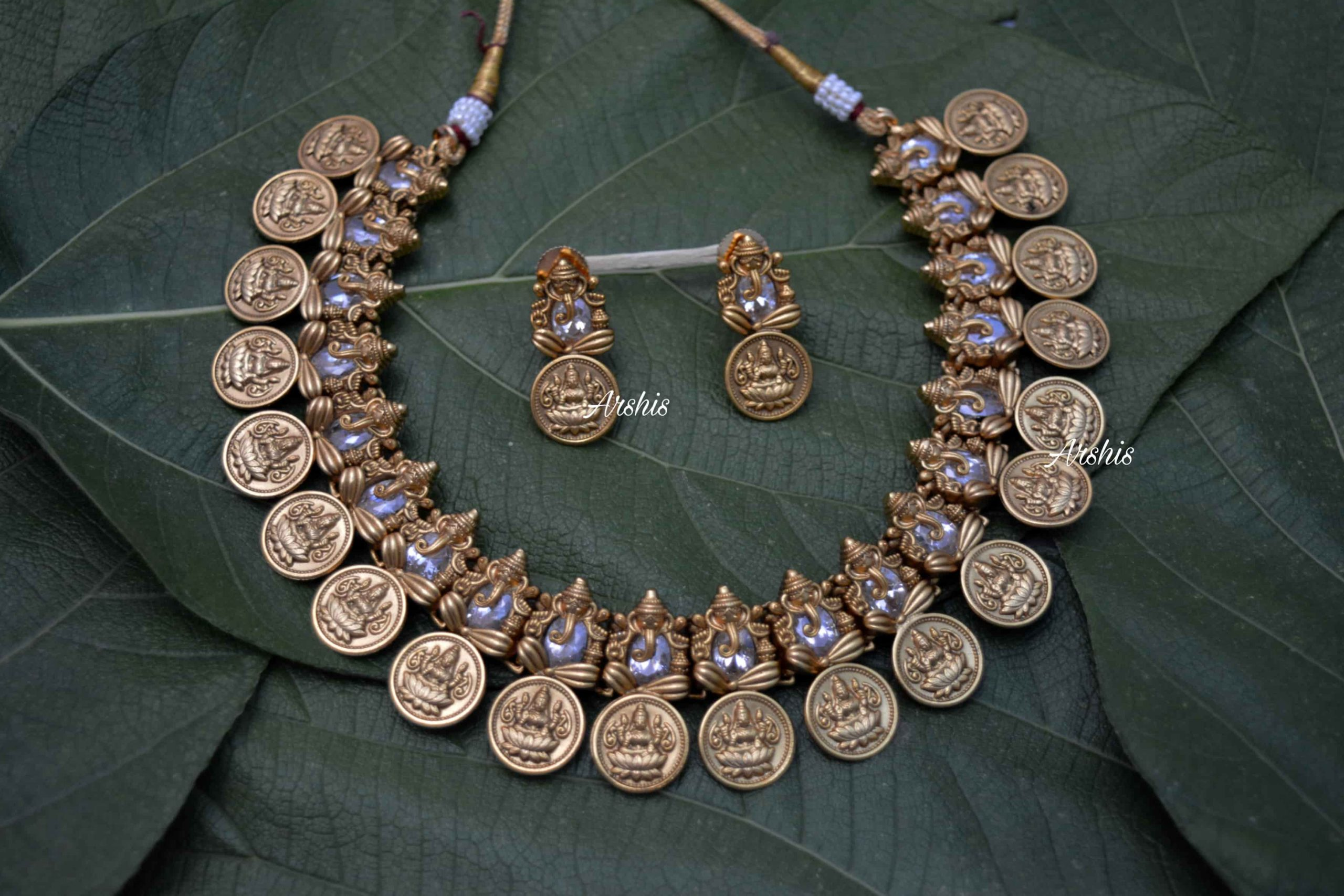 AD-Stone-Ganesha-with-Lakshmi-Coin-Necklace-01