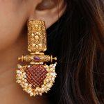 Antique Ruby Kemp Pearl Cluster Earrings
