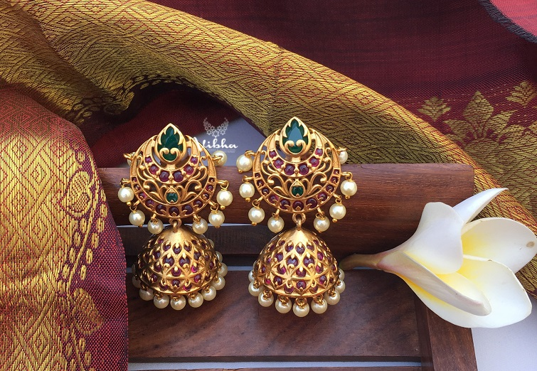 Exclusive-Designer-Matte-Finish-Jhumkas-01