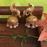 Gorgeous Peacock Design Jhumkas