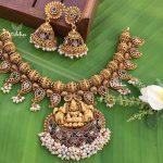 Grand Antique Finish Temple Necklace