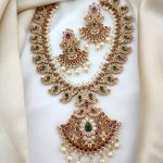 Matte Ad Pearl South Indian Necklace Set