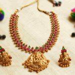 Designer Lakshmi Matte Short Necklace