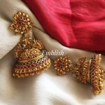Bridal Matte Flower Big Jhumka
