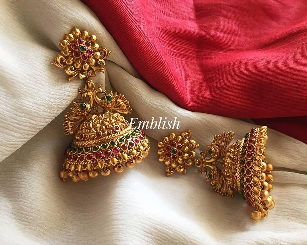 bridal-matte-flower-jhumka