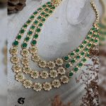 Emerald Cz Stone Necklace