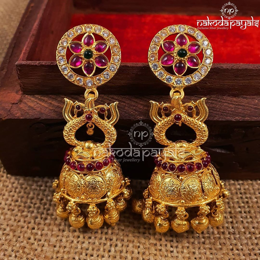 gold-polish-pure-silver-jhumki