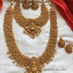 Golden Cluster Beads Temple Bridal Set