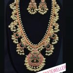 Guttapusalu Haram Necklace With Matching Earrings