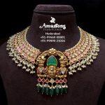 Kundan Studded 916 Hallmark Gold Necklace