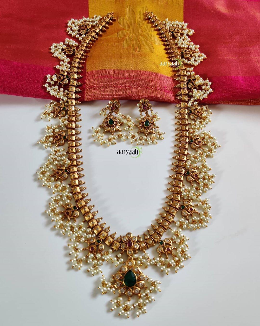matte-gold-alike-polish-guttapusalu-long-haram