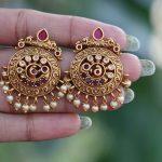 One Gram Gold Finish Earrings