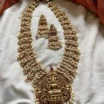 Pearl Cluster Lakshmi Neckpiece