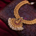 Semi Bridal Lakshmi Pendant Necklace