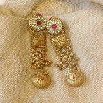 Silver Gold Polished Chandelier Earrings