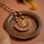 Thilagam Nila Pendant Ball Chain Necklace
