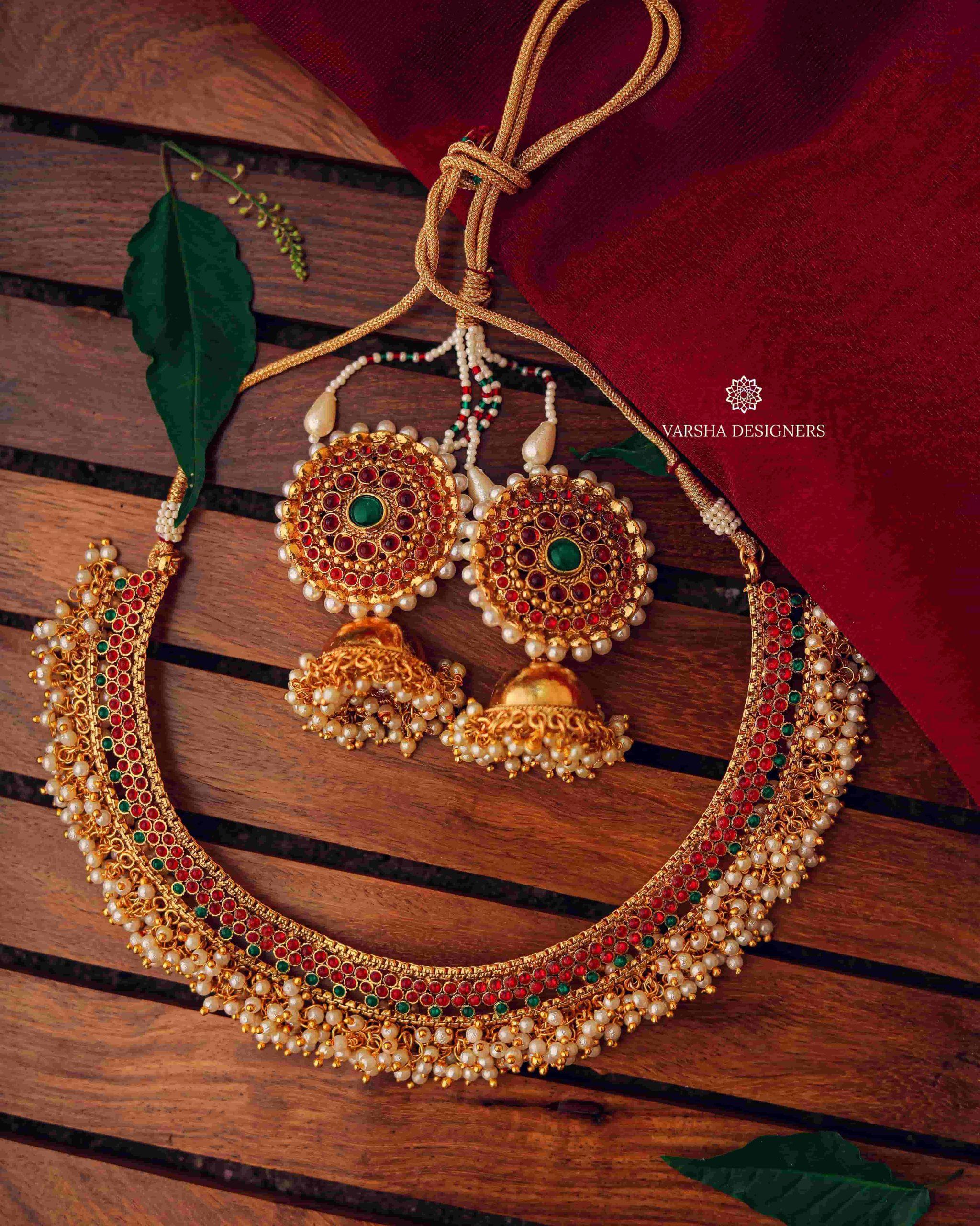Designer-Cluster-Pearl-Necklace-01-scaled
