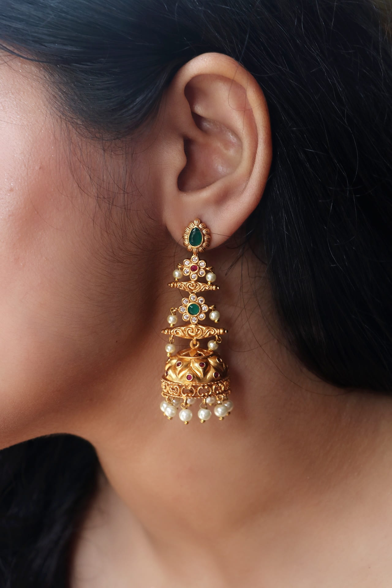 Gorgeous-Long-Drop-AD-Stone-Pearl-Jhumka-01