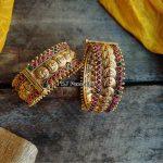 Bridal Kemp Lakshmi Coin Openable Kada Bangles