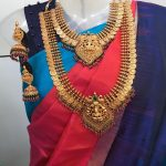 Grand Bridal Matte Lakshmi Coin Necklace