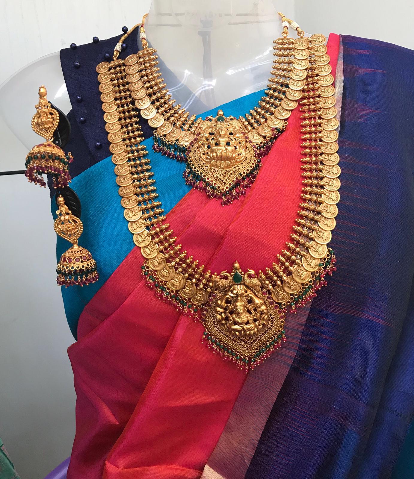 Grand-Bridal-Matte-Lakshmi-Coin-Necklace-01