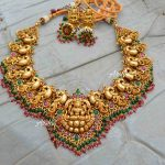 Grand Bridal Temple Lakshmi Nagas Necklace