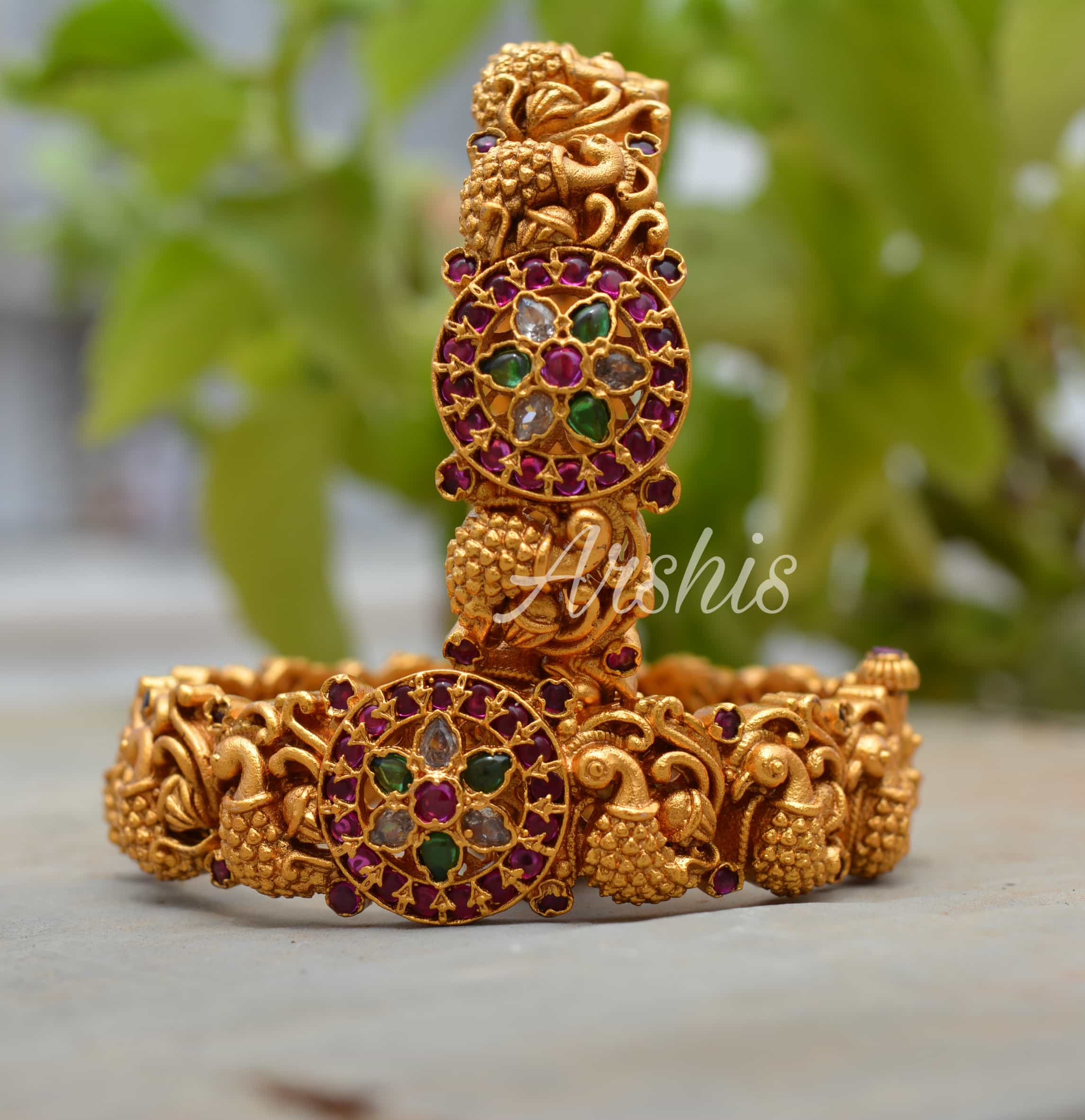 Handcrafted-Temple-Work-Nagas-Bangles-01