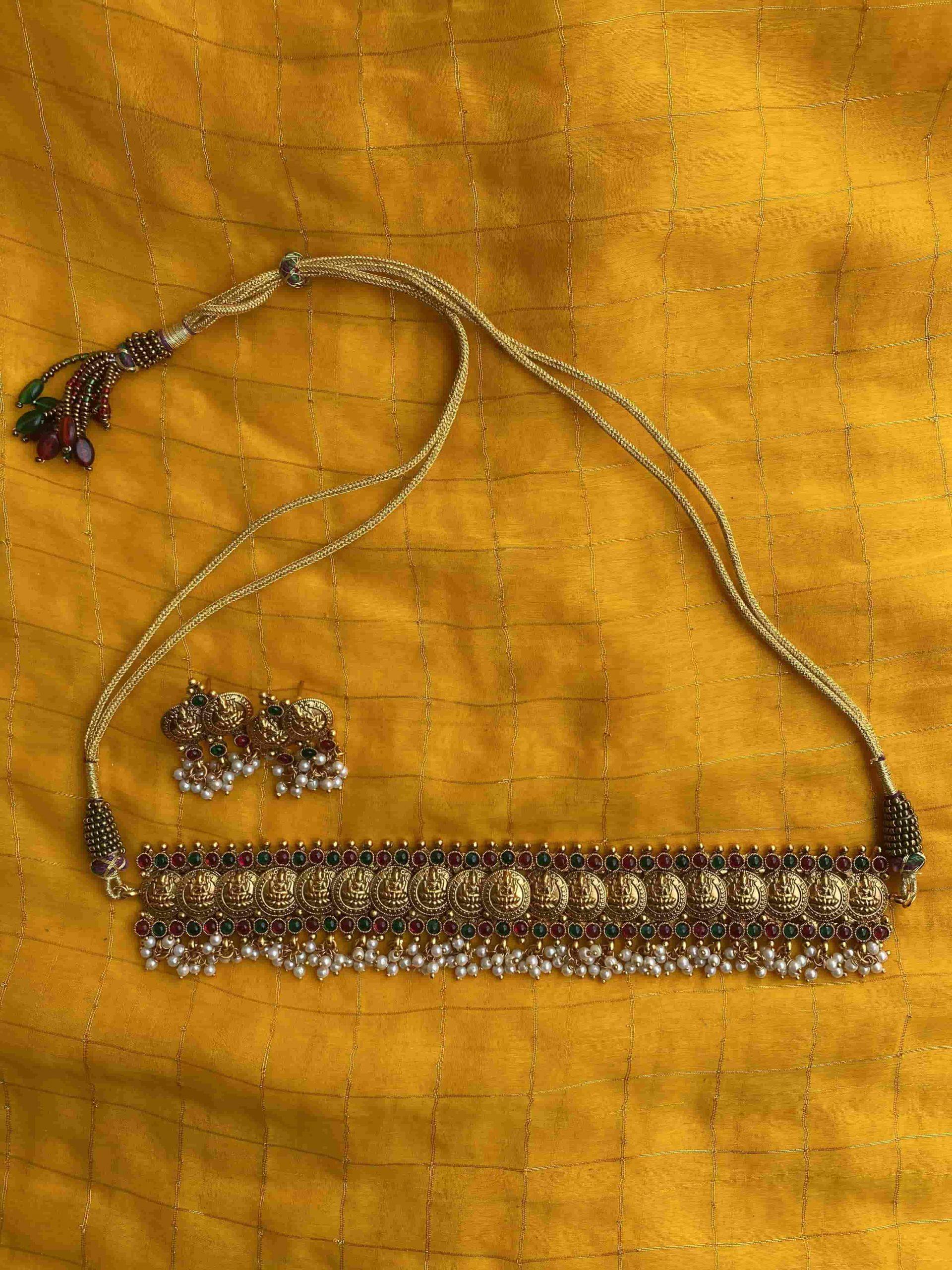 Traditional-Lakshmi-Coin-Guttapusalu-Choker-01-scaled