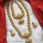 AD Stone Semi Bridal Necklace Set