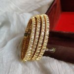 Antique Gold Polish American Diamond Bangles