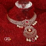 Diamond Necklace With Ruby And Pearls From GRT Jewellers