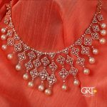 Stylish Diamond and Pearl Necklace