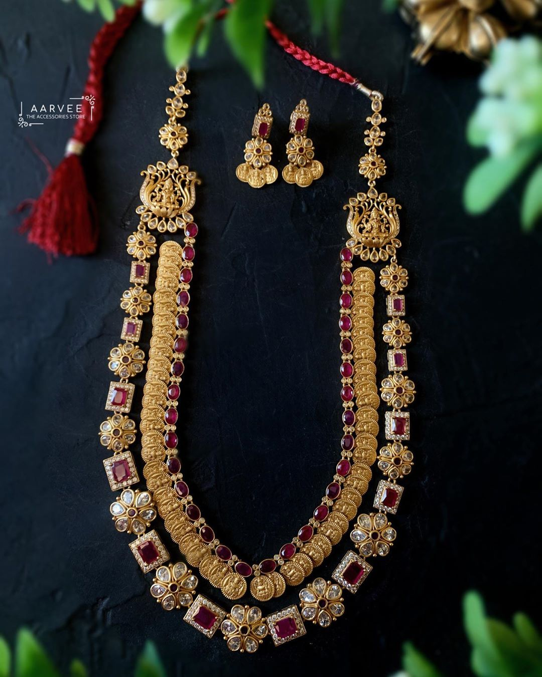 gold-plated-lakshmi-haram-with-ruby-stones