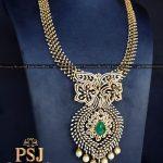 Heritage Diamond Emerald Necklace
