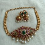 Kemp Choker Necklace With Jhumkas