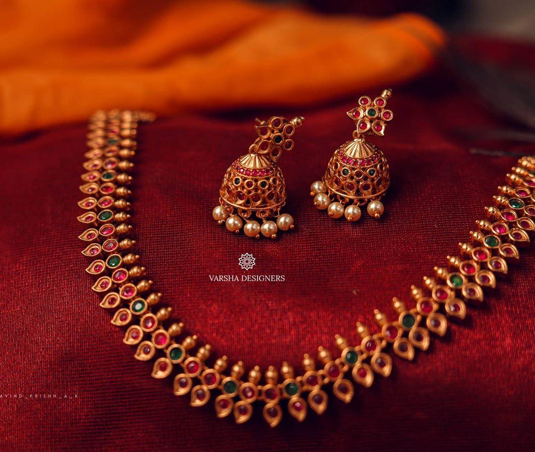 matte-copper-semi-precious-stones-necklace