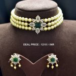 Pearl American Diamond Choker Set