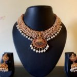 Pearl Bunch Lakshmi Necklace Set