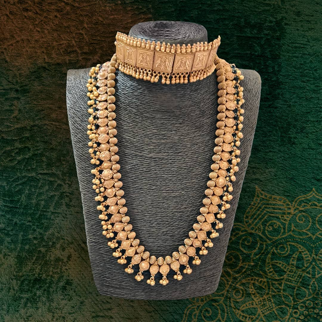 pure-silver-gold-plated-choker-long-necklace