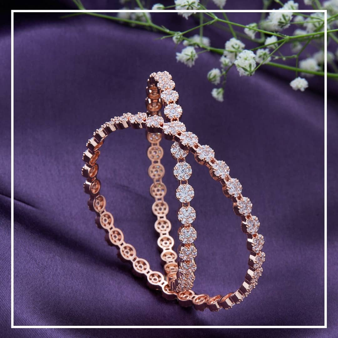 rosegold-zircon-bangles